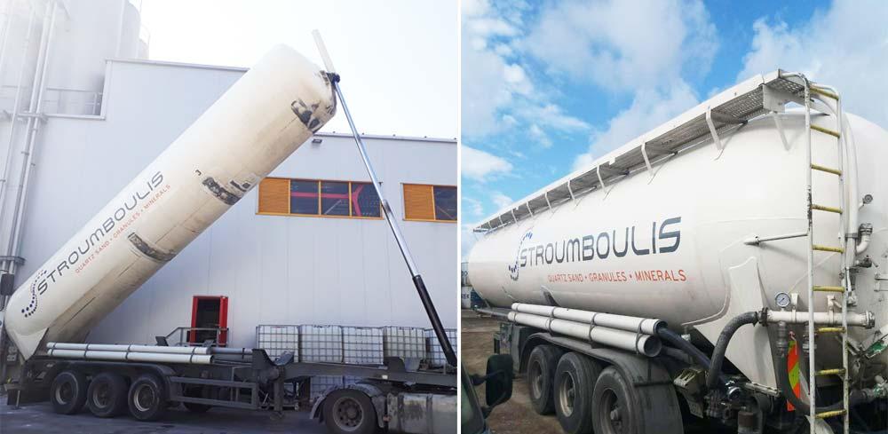 Χαλαζιακά προιόντα με silo